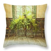 Green House Throw Pillow by Margie Hurwich