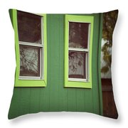 Green House Throw Pillow