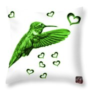 Green Hummingbird - 2055 F S M Throw Pillow