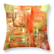 Green II Throw Pillow
