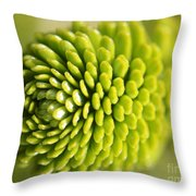 Green Inifinity Throw Pillow