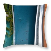 Green Intervention  Throw Pillow