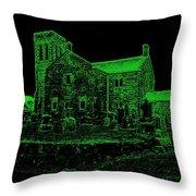 Green Kirk Throw Pillow