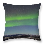 Green Lady Dancing 11 Throw Pillow