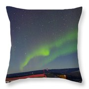 Green Lady Dancing 12 Throw Pillow