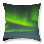 Green Lady Dancing 24 Throw Pillow