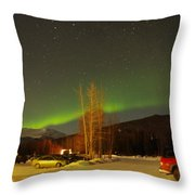 Green Lady Dancing 36 Throw Pillow