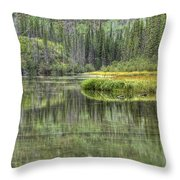 Green Lake Throw Pillow