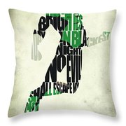 Green Lantern Throw Pillow by Ayse Deniz