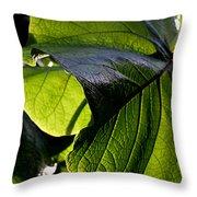 Green Leaf I Throw Pillow