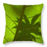Green Leaves Series 3 Throw Pillow
