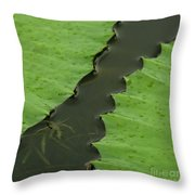 Green Leaves Series  4 Throw Pillow