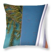Green Makes The Scene Throw Pillow
