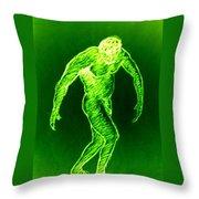 Green Man Arises Throw Pillow