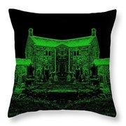 Green Manor Throw Pillow