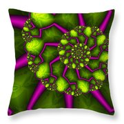 Green Meets Magenta Throw Pillow