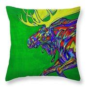 Green Mega Moose Throw Pillow