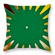 Green Memorial Union Chair Throw Pillow by Christi Kraft