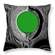 Green Mirror Throw Pillow