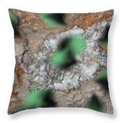 Green Moths Throw Pillow