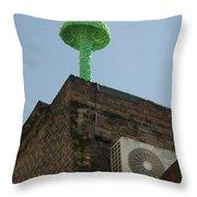 Green Mushroom By Nagel Throw Pillow
