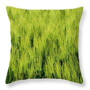 Green Nature Throw Pillow