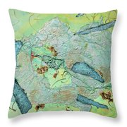 Green Of The Earth Plane Throw Pillow