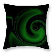 Green On Black 1 Throw Pillow