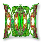 Green On White - 921 Throw Pillow