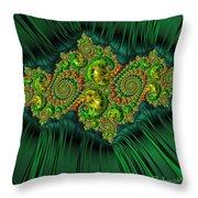 Green Ornament Throw Pillow