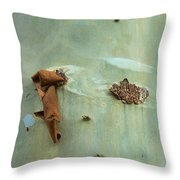 Green Outer Bark Throw Pillow