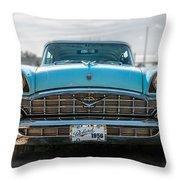 Green Packard Throw Pillow