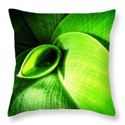 Green Paradise - Leaves By Sharon Cummings Throw Pillow