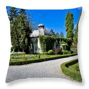Green Park In Daruvar With Old Thremae Throw Pillow