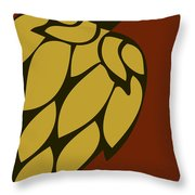 Green Passion Hops Throw Pillow