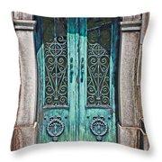 Green Patina Throw Pillow by Marcia Lee Jones