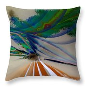 Green Planets Throw Pillow
