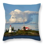 Green Point And Keepers Cottage Throw Pillow