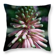 Green Points Throw Pillow