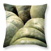 Green Pumpkins Throw Pillow