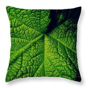 Green Ribbons Of Life Throw Pillow