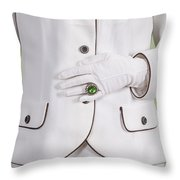 Green Ring Throw Pillow