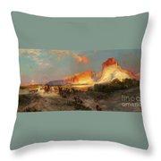 Green River Cliffs Wyoming Throw Pillow