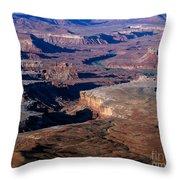 Green River Overlook Throw Pillow