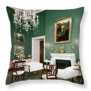 Green Room In The White House Throw Pillow