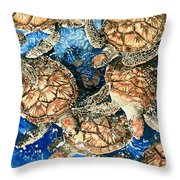 Green Sea Turtles Throw Pillow