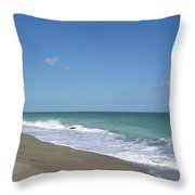 Green Seas Throw Pillow