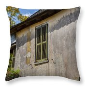 Green Shutters Stucco Walls St Augustine Throw Pillow