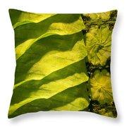 Green Silk 02 Throw Pillow