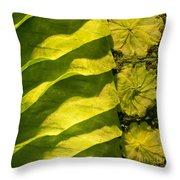 Green Silk 03 Throw Pillow